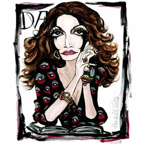 Diane von Furstenberg. Artist: Michelle Vella