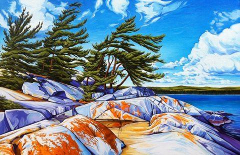 """""""Autumn on Fraser Bay"""" By Margarethe Vanderpas"""