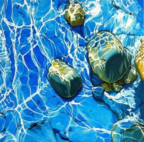 Dancing Light on Water by M Vanderpas