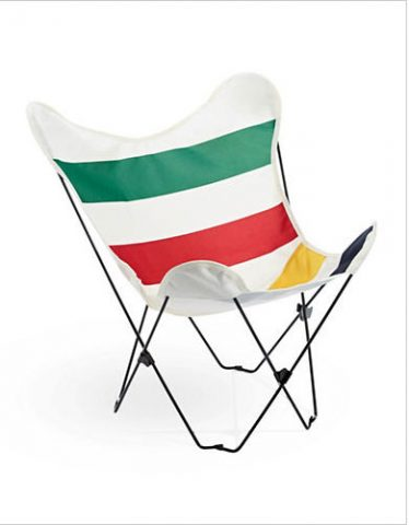 HBC Butterfly Chair in Hudson's Bay Colours