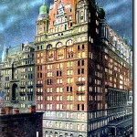 New York's original Waldorf-Astoria Hotel on site of the Empire State Building.