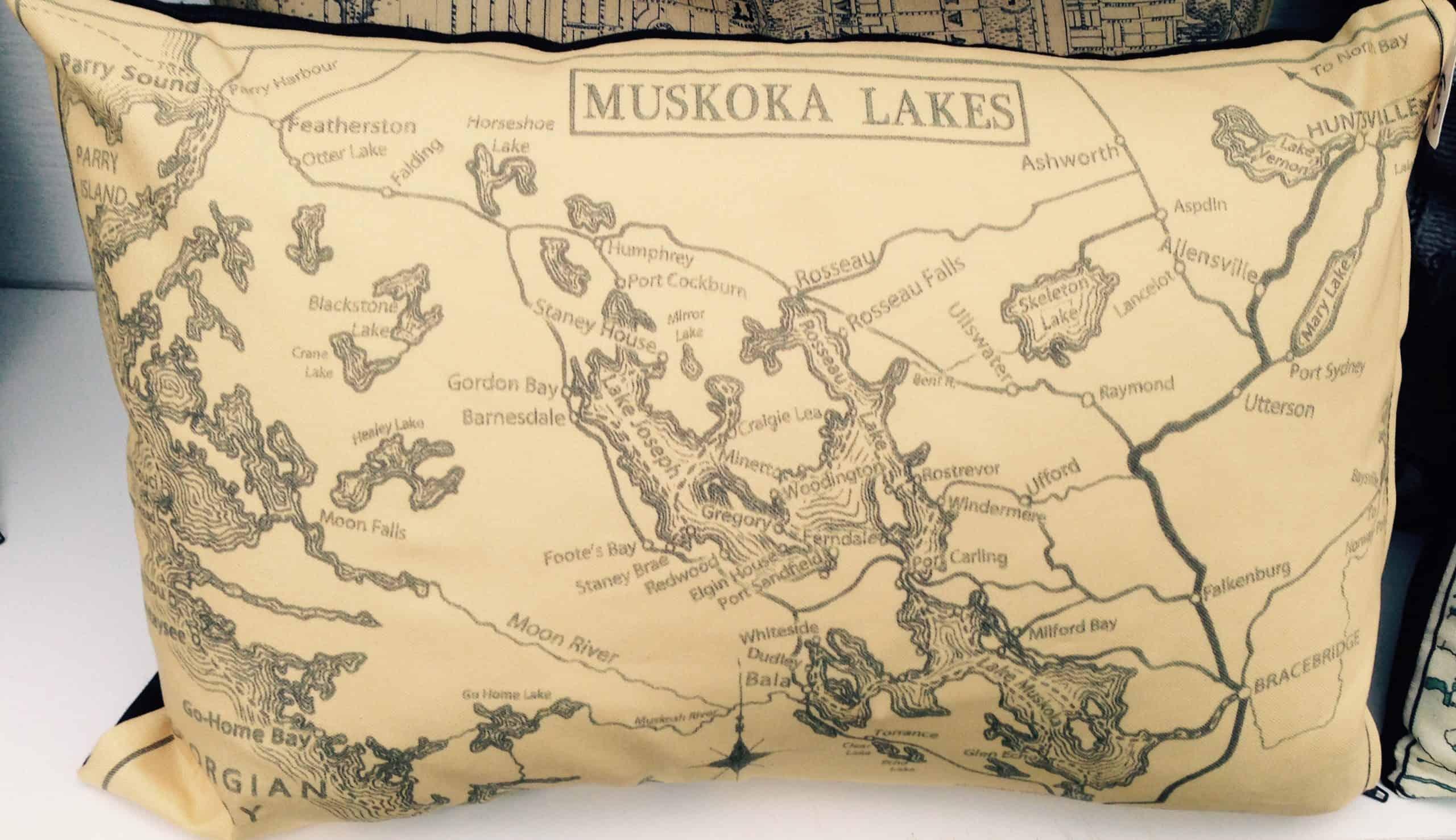 Muskoka Map Pillow