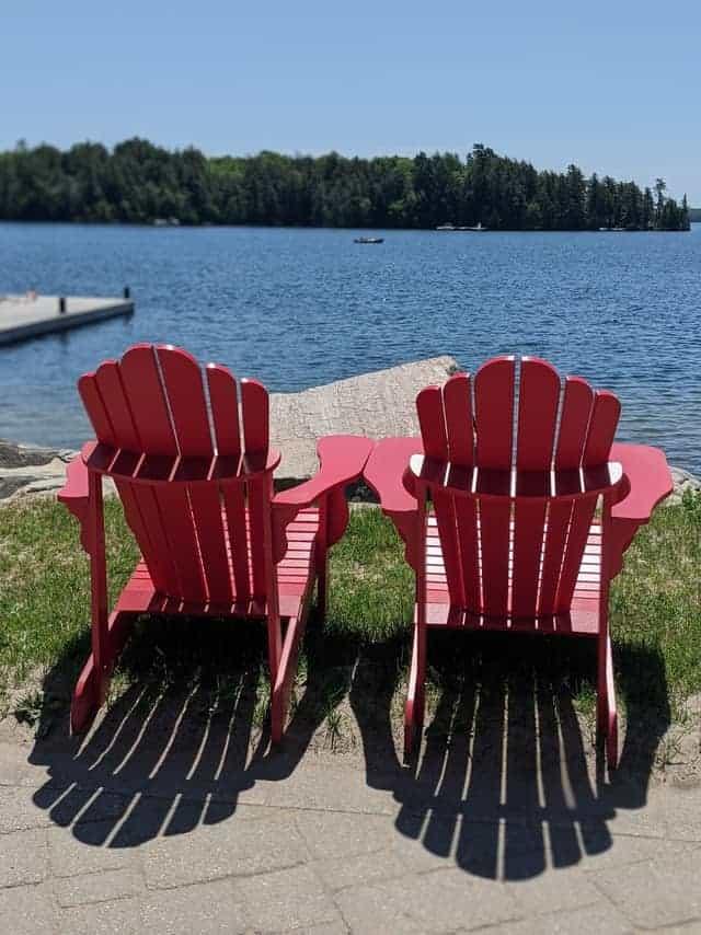 Muskoka Chairs and Boat